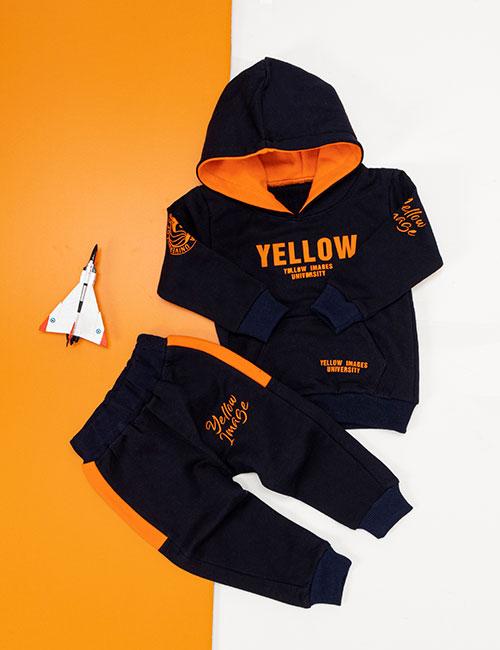 ست سویشرت و شلوار بچگانه Yellow مدل 17176