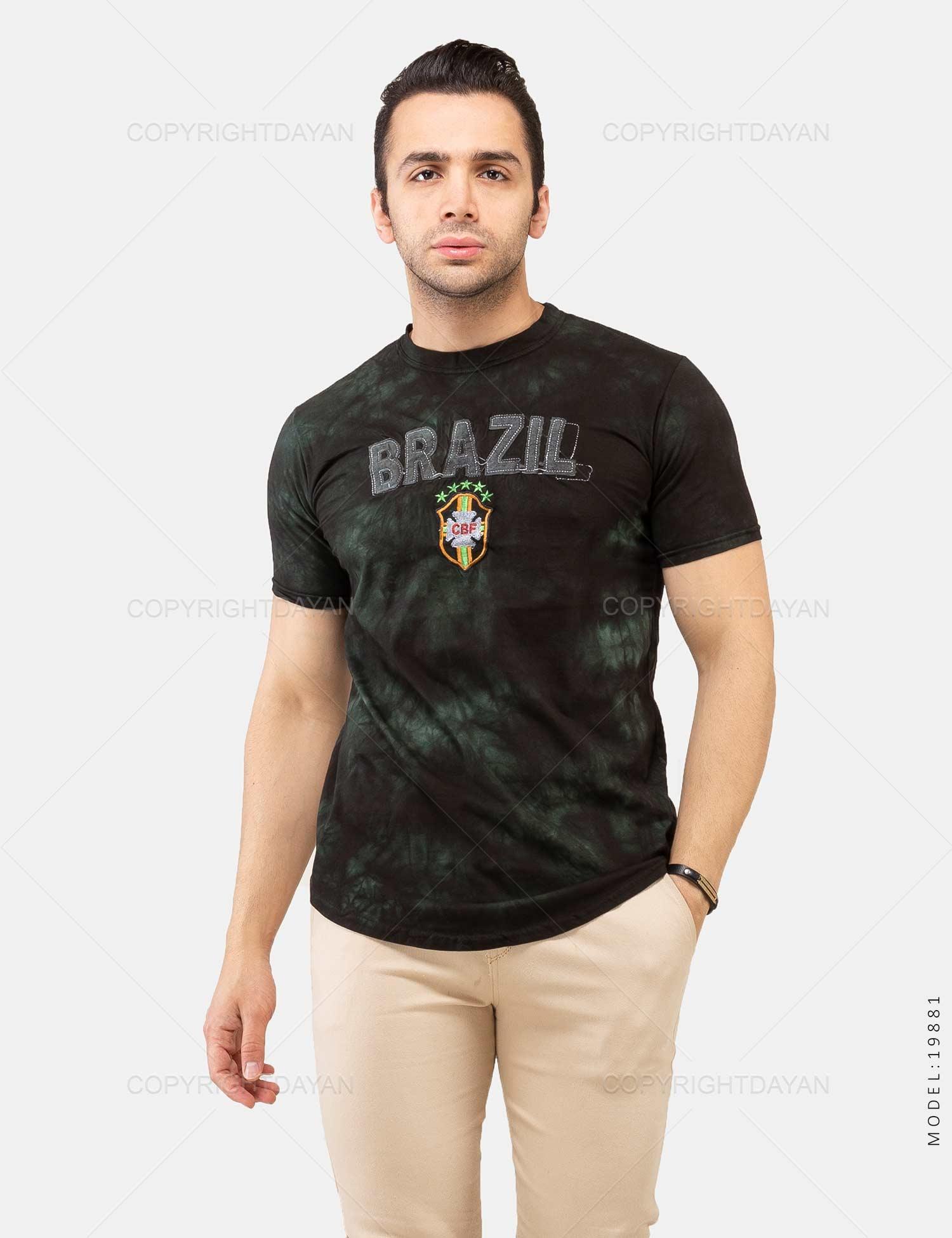 تیشرت مردانه Brazil مدل 19881