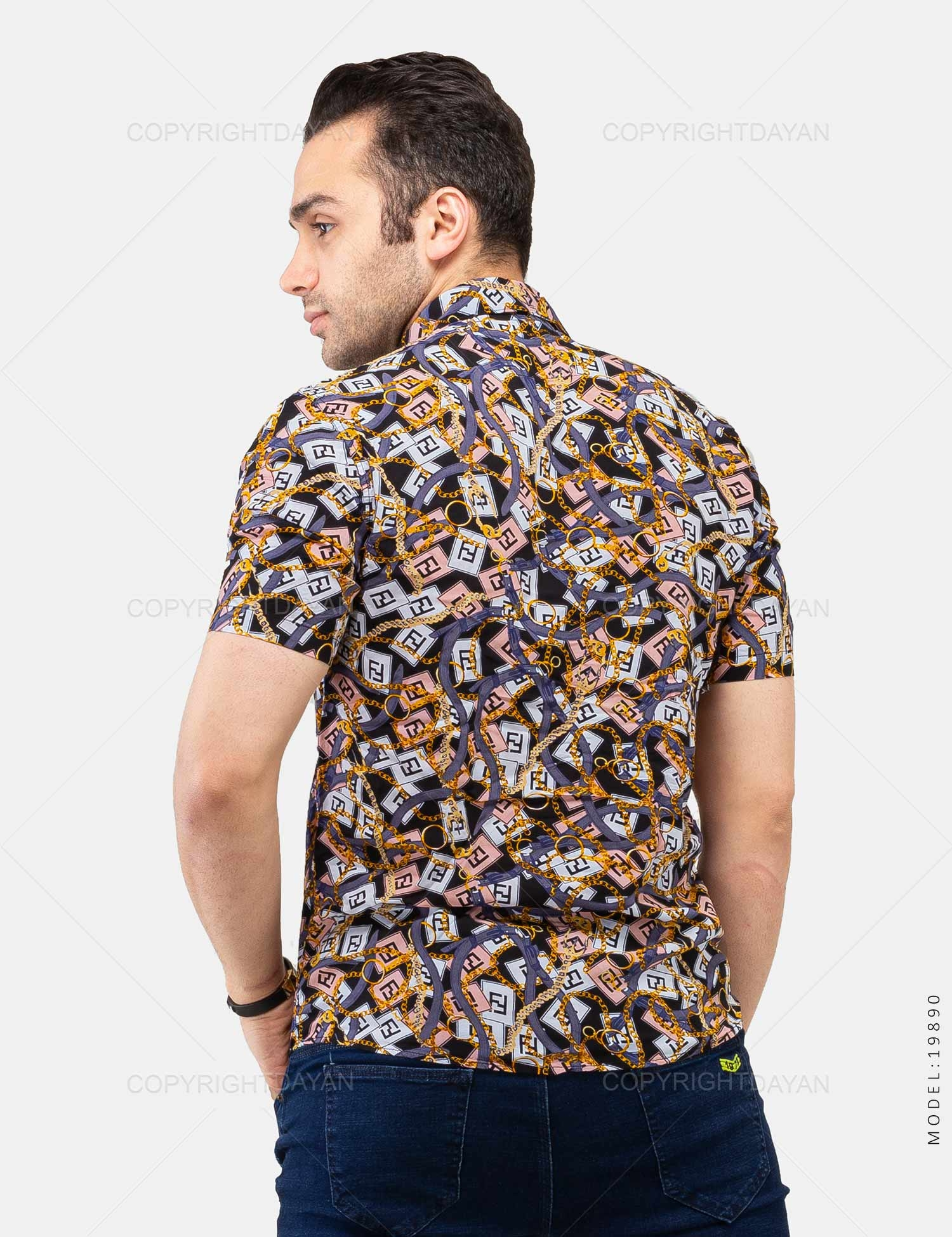 پیراهن مردانه Fendi مدل 19890