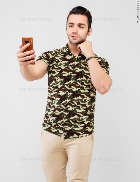 پیراهن مردانه ارتشی مدل 19899