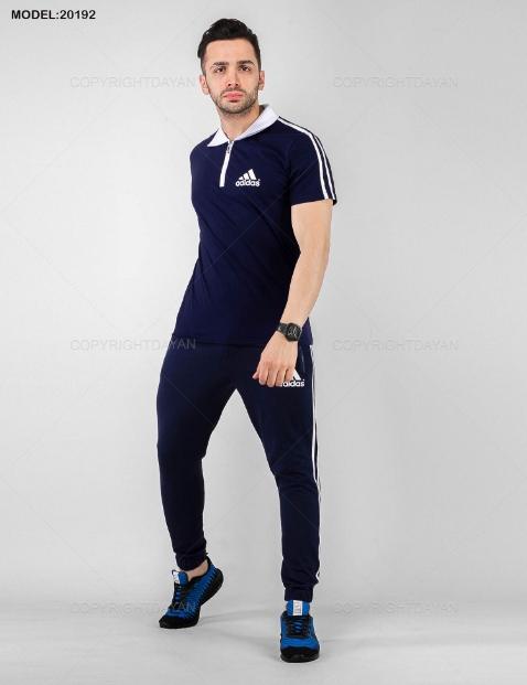 ست پولوشرت و شلوار مردانه Adidas مدل 20192