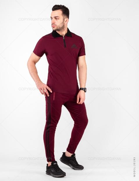 ست پولوشرت و شلوار مردانه Adidas مدل 20193