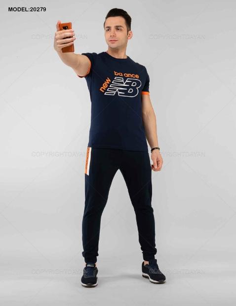 ست تیشرت و شلوار مردانه New Balance مدل 20279