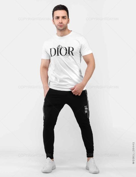 ست تیشرت و شلوار مردانه Dior مدل 20441