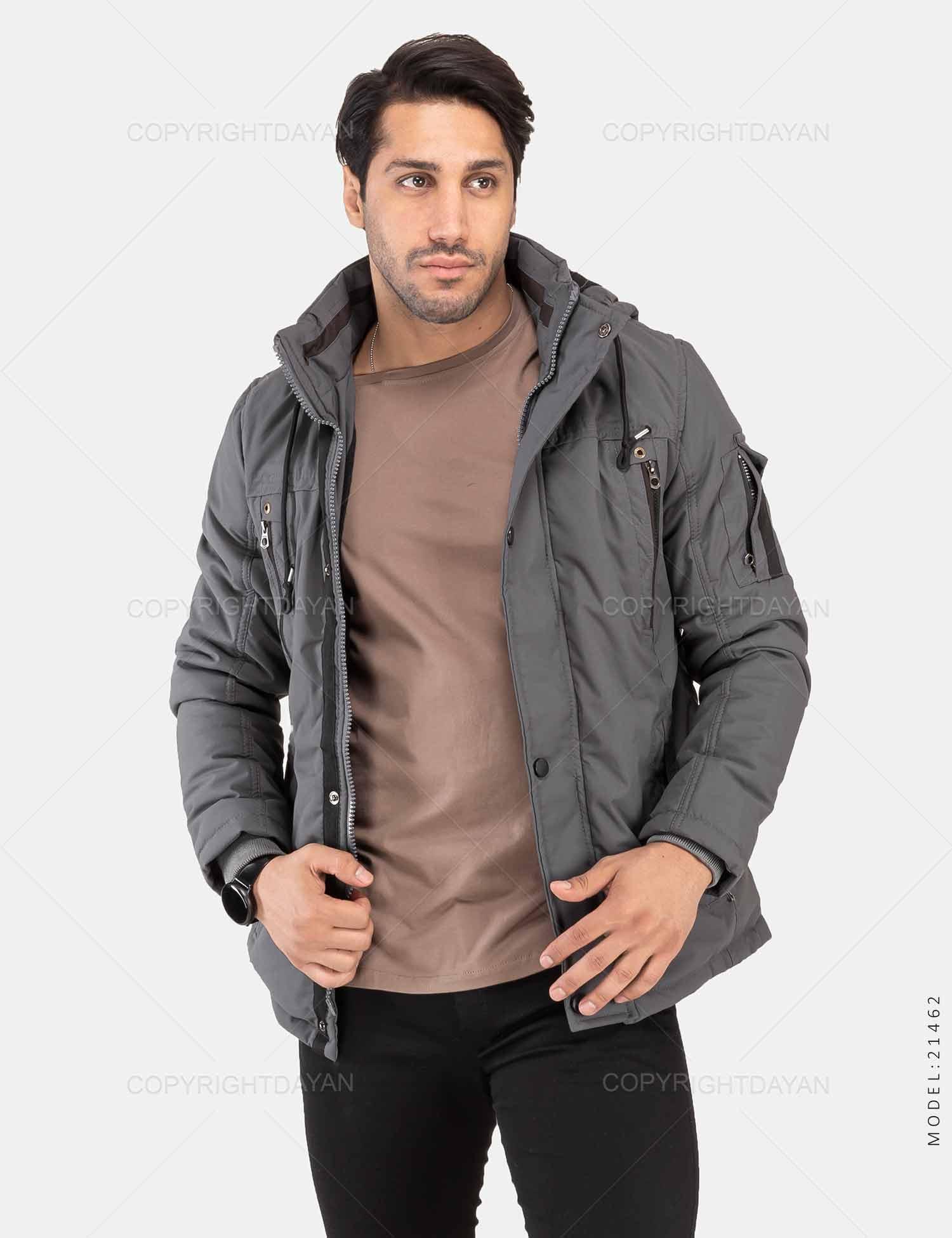 کاپشن مردانه Rayan مدل 21462