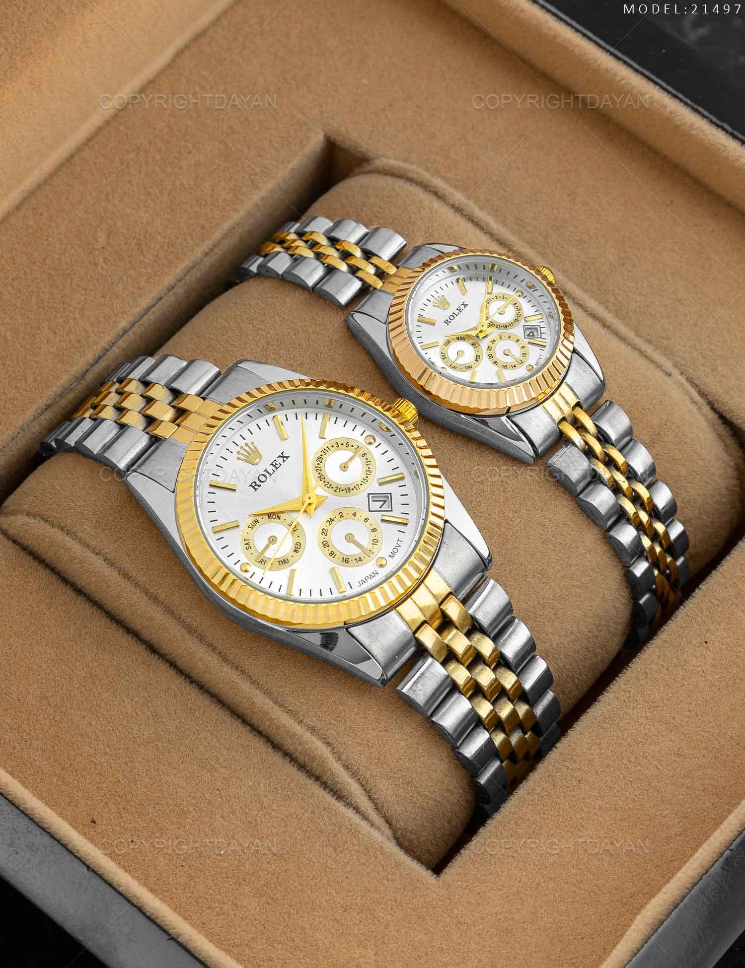 ست ساعت مچی Rolex مدل 21497 ست ساعت مچی Rolex مدل 21497 269,000 تومان