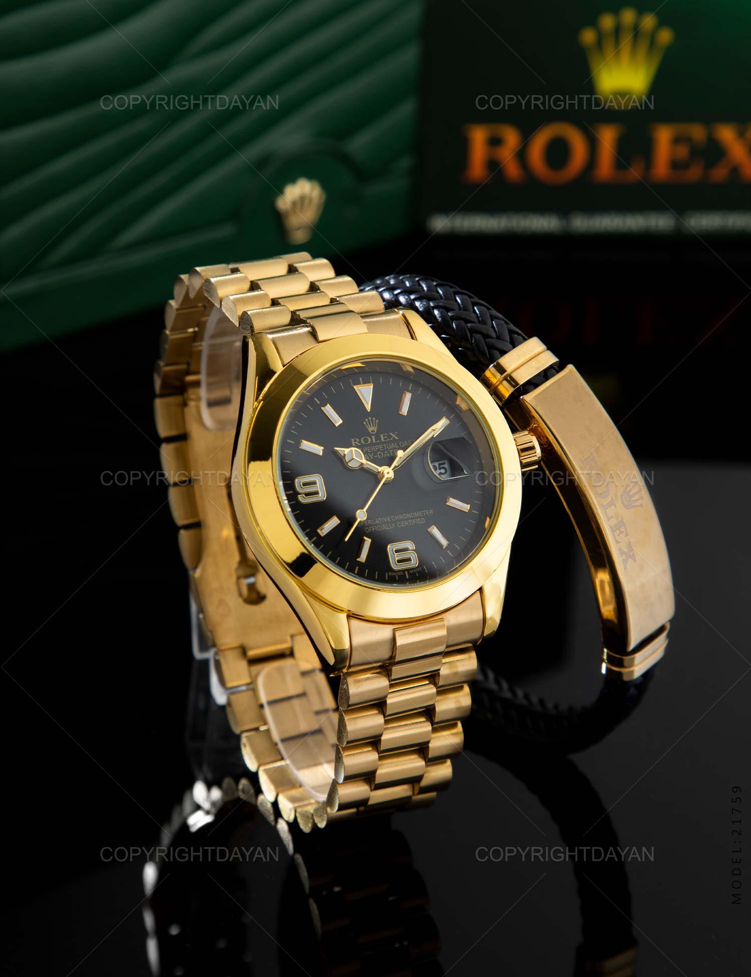 ساعت مچی مردانه Rolex مدل 21759 ساعت مچی مردانه Rolex مدل 21759 259,000 تومان