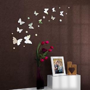 آینه دکوراتیو طرح باغ پروانه ها