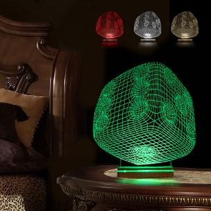 آباژور سه بعدی طرح تاس
