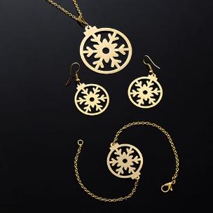 ست گردنبند دستبند و گوشواره زمستان