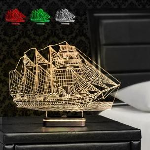 آباژور سه بعدی طرح کشتی