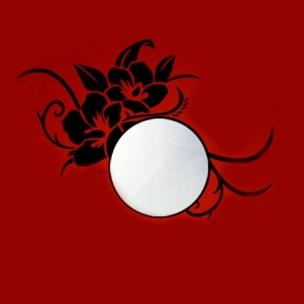 آینه و استیکر طرح گل رز