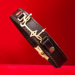 دستبند چرم طرح طهران