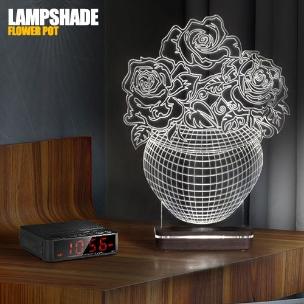 آباژور سه بعدی طرح گلدان