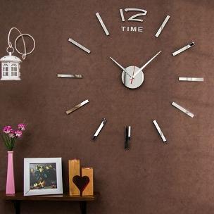 ساعت دیواری تایم(نقره ای)