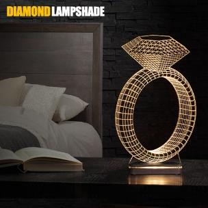 آباژور سه بعدی طرح انگشتر الماس