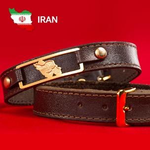 دستبند چرم طرح نقشه ایران