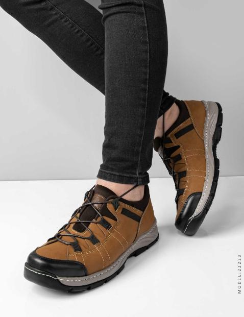 تخفیفانه کفش روزمره مردانه Stark مدل 22223,Men's everyday shoes Stark model 22223,کفش روزمره پسرانه استارک رنگ قهوه ای,