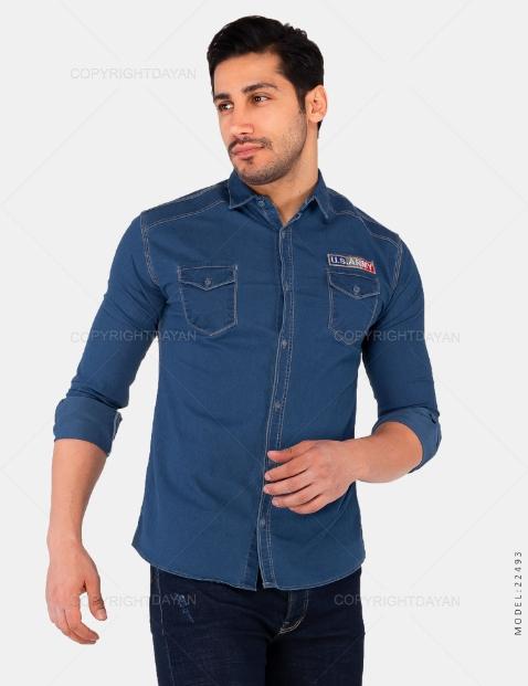 تخفیفانه پیراهن مردانه Army مدل 22493,Army Men's Shirt Model 22493,پیراهن لی پسرانه آرمی رنگ آبی,