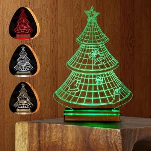 آباژور سه بعدی طرح کریسمس