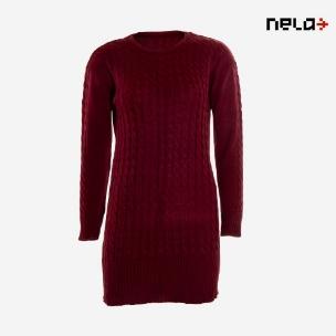 بافت زنانه Nela مدل Y7790 (جگری)