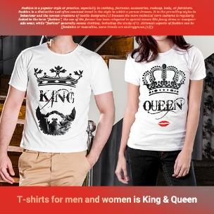 ست تیشرت مردانه و زنانه King&Queen