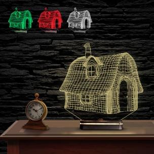 آباژور سه بعدی طرح کلبه