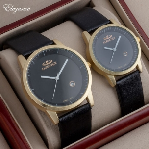ست ساعت مردانه زنانه Elegance مدل W6399 (مشکی)