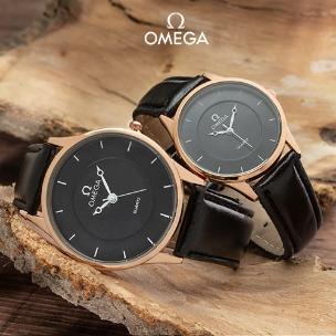 ست ساعت مردانه و زنانه Omega مدل W4437 (مشکی)