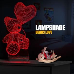 آباژور سه بعدی طرح Bears Love