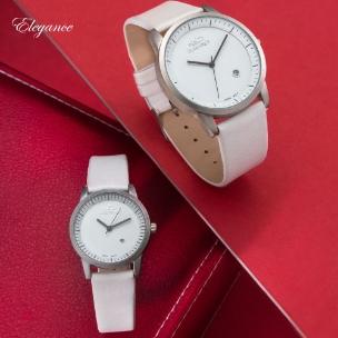 ست ساعت مردانه زنانه Elegance مدل W6399 (سفید)